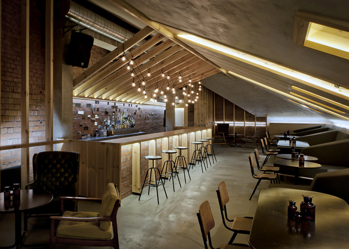 187 Attic Bar By Inblum Architects Minsk Belarus