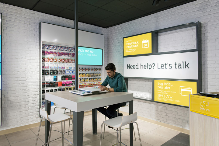 Argos stores by dalziel and pow london retail design blog for Service design agency london