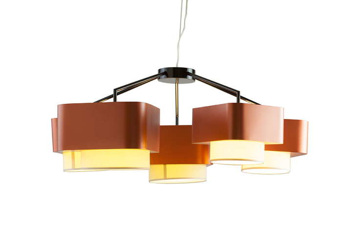 Mambo Introduces New Carousel Suspension Lamp, A 5 Lampshade Lamp Supported  By An Harmonious Iron Structure. Been Presented In 2 Color Combinations: ...