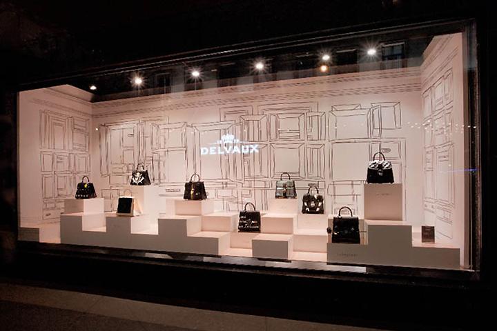 DELVAUX window display at Galeries Lafayette by frank agterberg/bca, Paris u00bb Retail Design Blog