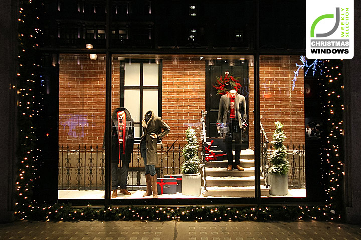 Gant Christmas Shop Windows London 187 Retail Design Blog