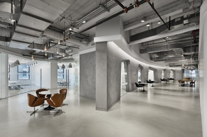 Lf usa offices by spacesmith new york city retail for Loft office design