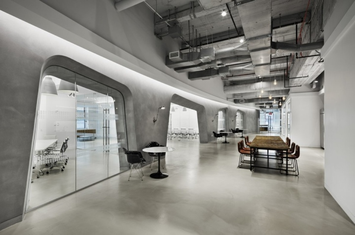 Lf usa offices by spacesmith new york city retail for Interior design office new york