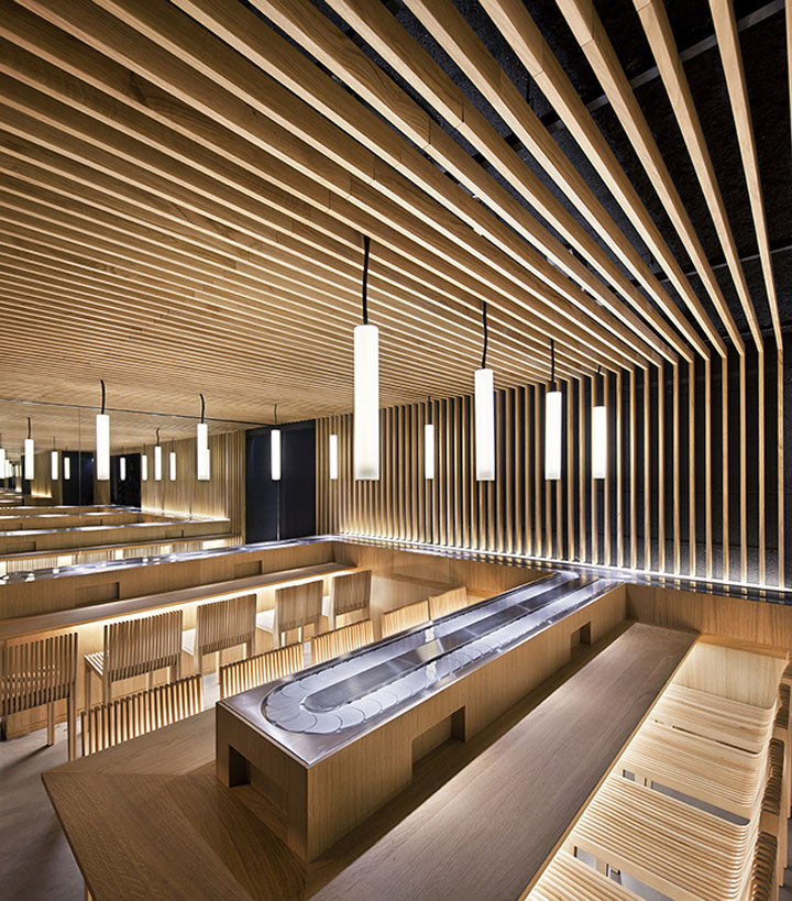 Matsuri boetie restaurant by moreau kusunoki architects Japanese interior architecture