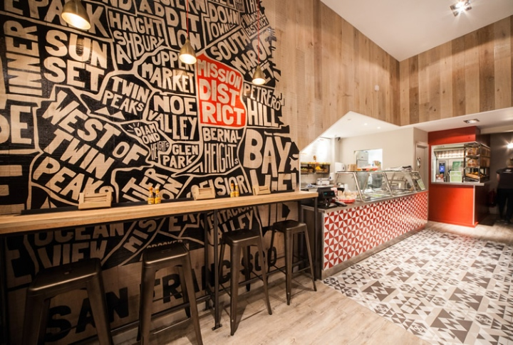 Mission burrito restaurant by simple simon design cardiff