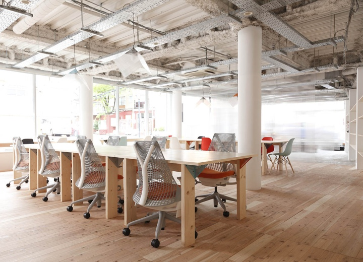 Mozilla factory space by nosigner tokyo japan retail for Office design japan