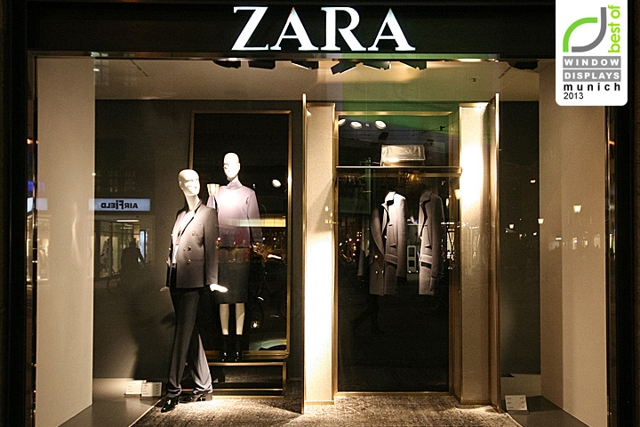 zara windows 2013 autumn munich germany. Black Bedroom Furniture Sets. Home Design Ideas