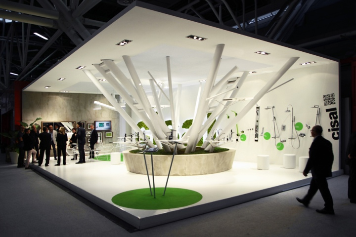 Modern Exhibition Stand Ideas : Cisal booth at cersaie by boris klimek bologna italy