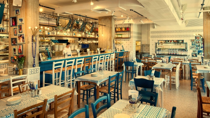 Greek Restaurant Design Concept : Greco greek restaurant by dan troim tel aviv israel