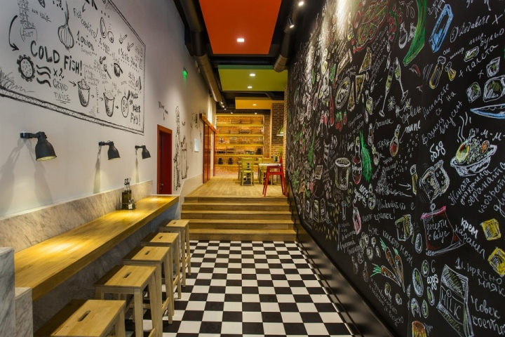 Mini cafe design concepts home decorating ideas for Fast food decoration