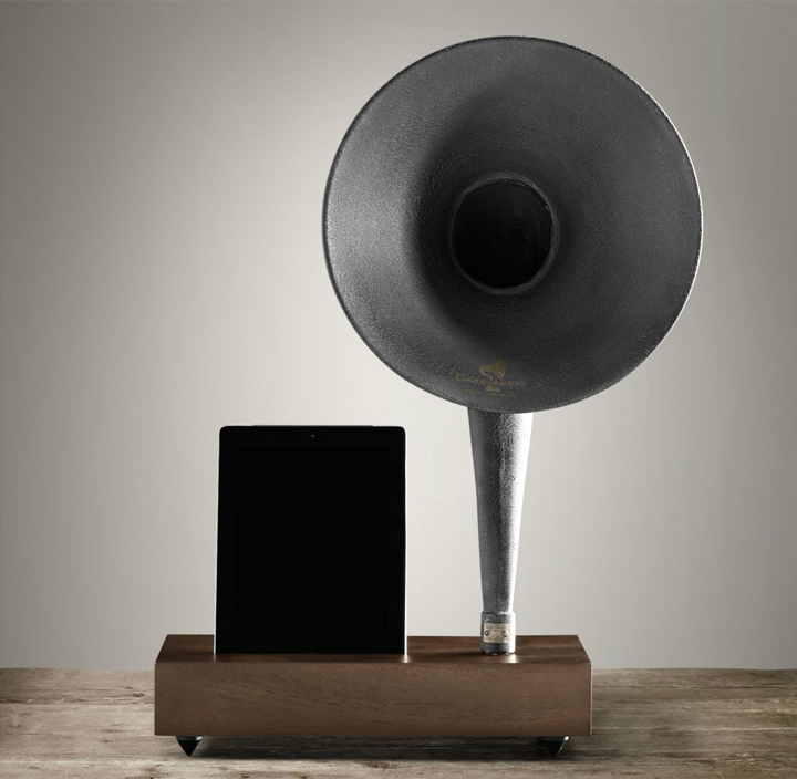 Restoration Hardware Gramophone: » IPad Gramophone By Restoration Hardware
