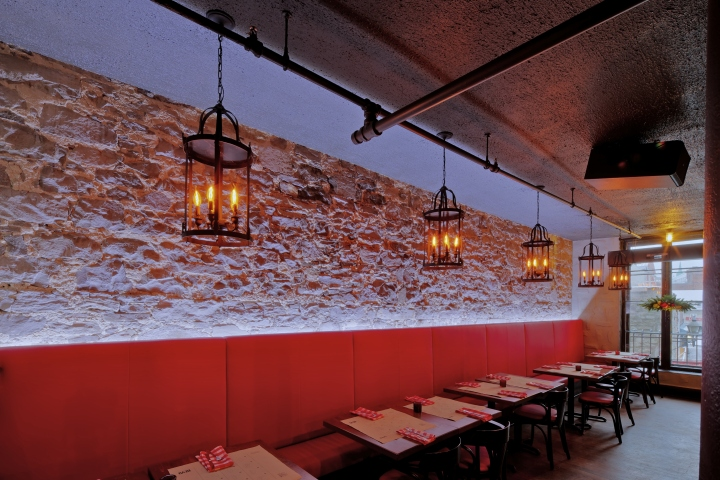 bevo bar and pizzeria by camdi design  u0026 bloom lighting group  montreal  u00bb retail design blog
