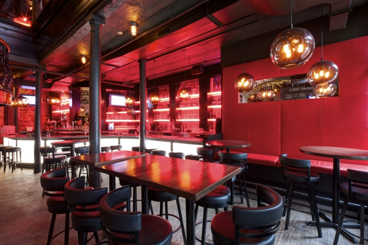 Bevo bar and pizzeria by camdi design bloom lighting