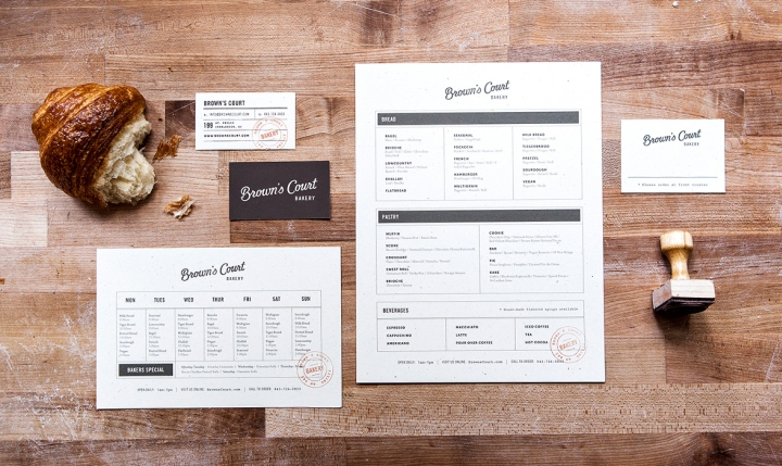 Browns Court Bakery branding by Studio Nudge 02 Browns Court Bakery branding by Studio Nudge