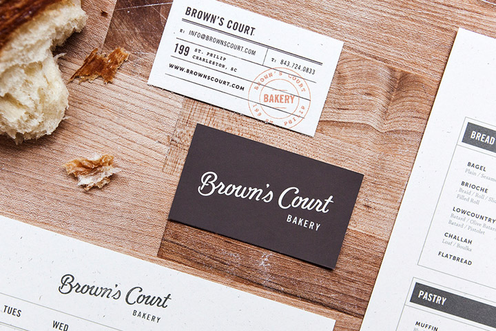 Browns Court Bakery branding by Studio Nudge Browns Court Bakery branding by Studio Nudge
