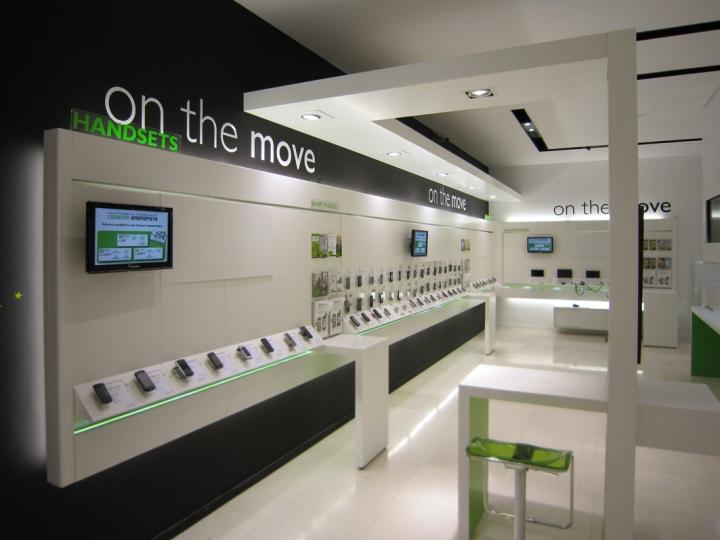 Cosmote mobile store by kvb design athens greece retail design blog - Mobile shop interior design ideas ...