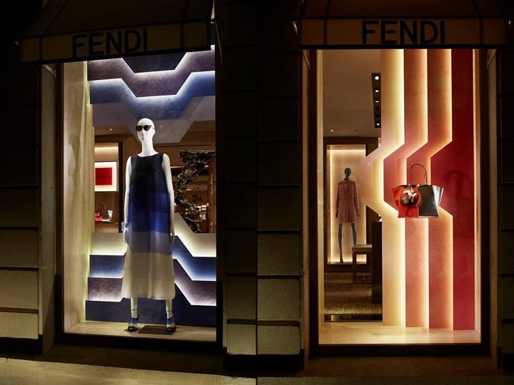 Fendi SpringSummer 2014 Windows New York Paris Milan