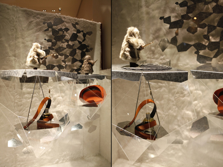 187 Herm 232 S Window Display Winter 2013 2014 By Design Systems Ltd China