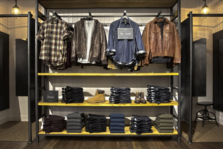 Clothing stores. Modern man clothing store