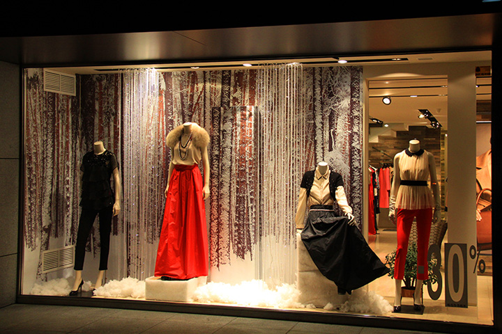 Maxmara windows by svitlana konstantynova dnepropetrovsk for Show window designs