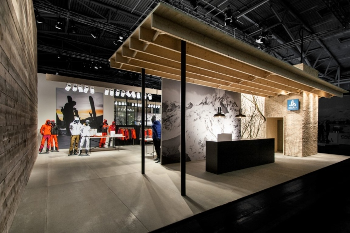 Trade Fair Stands Design : Odlo trade fair stand at ispo by laborrotwang munich