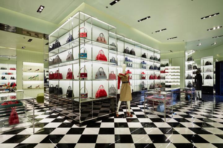 prada store by roberto baciocchi stockholm sweden retail design blog. Black Bedroom Furniture Sets. Home Design Ideas