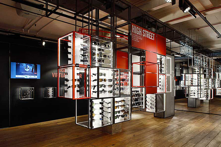 Ray ban concept store at covent garden by puresang london for Hotel cube londres