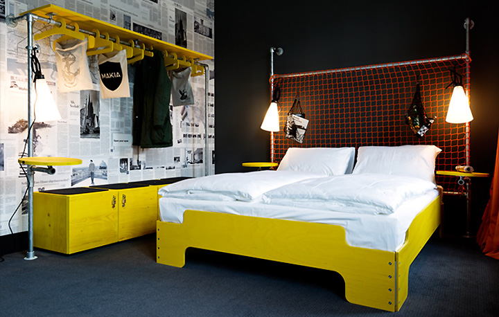 superbude ii hotel hostel by dreimeta hamburg germany retail design blog. Black Bedroom Furniture Sets. Home Design Ideas