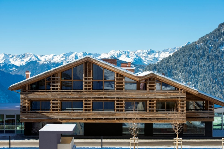 W hotel by concrete architectural associates verbier for Hotel design schweiz