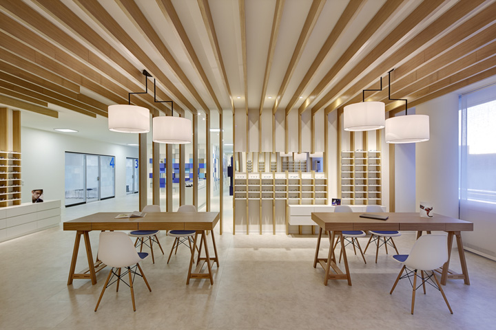 Cagnolati optometry by heikaus duisburg germany for Retail interior design