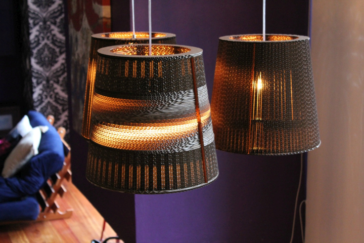 lamps clever made cardboard plain from old amazingly lamp
