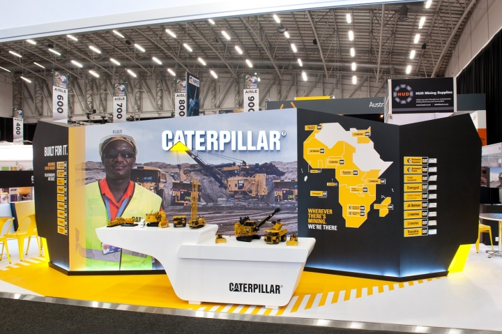 u00bb caterpillar booth at mining indaba 2014 by hott3d  cape