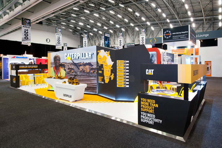 Exhibition Booth Equipment : Caterpillar booth at mining indaba by hott d cape