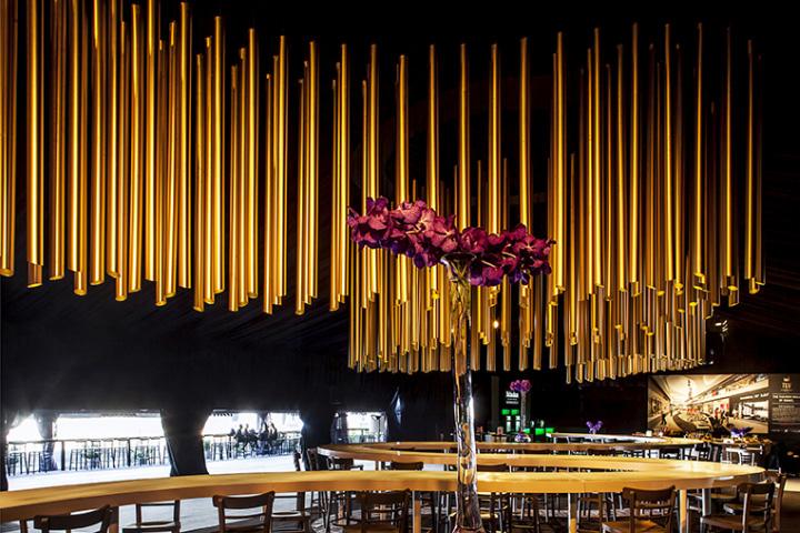 Custom lighting installation by beamdesign israel