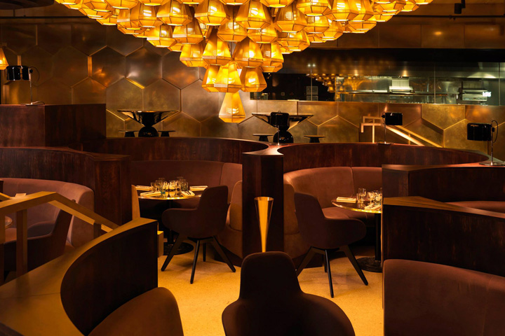 Retail design blog clectic restaurant by tom dixon for Showroom cuisine paris