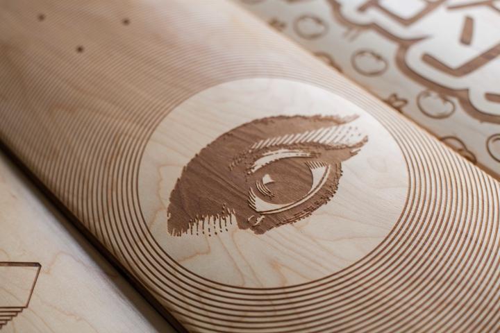 Laser Engraved Skate Decks By Magnetic Kitchen 187 Retail