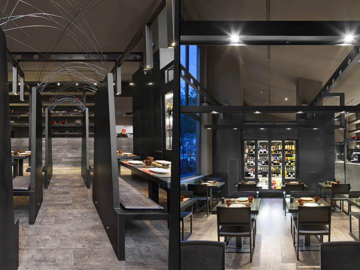 Umo japanese restaurant at hotel catalonia by estudi josep cortina barcelona spain retail - Restaurant umo barcelona ...