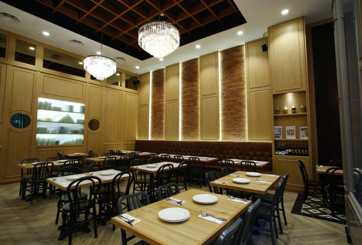 Restaurant Kitchen Wall Finishes zaffron kitchen restaurantjp concept, singapore » retail
