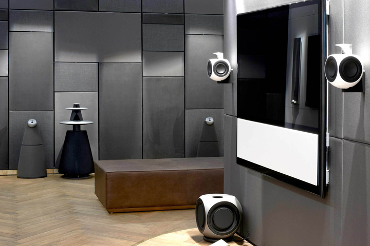 bang olufsen flagship store by johannes torpe studios copenhagen sweden. Black Bedroom Furniture Sets. Home Design Ideas