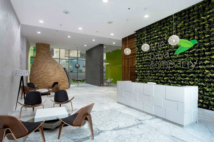 Baya park sales office by planet 3 studios mumbai india for Sales office design