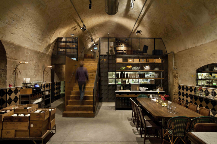Jajo wine bar restaurant by dan troim tel aviv israel for Photo de bar restaurant