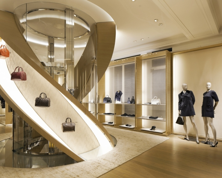 Louis vuitton townhouse at selfridges by curiosity london for Retail interior design agency london