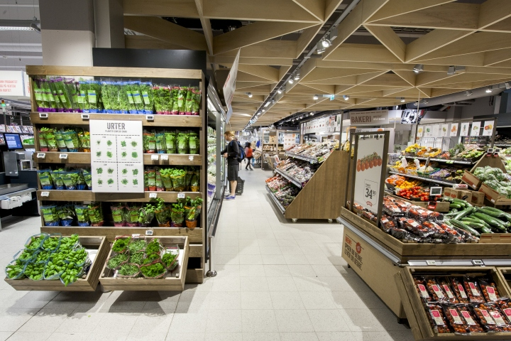 meny supermarkets by household norway retail design blog