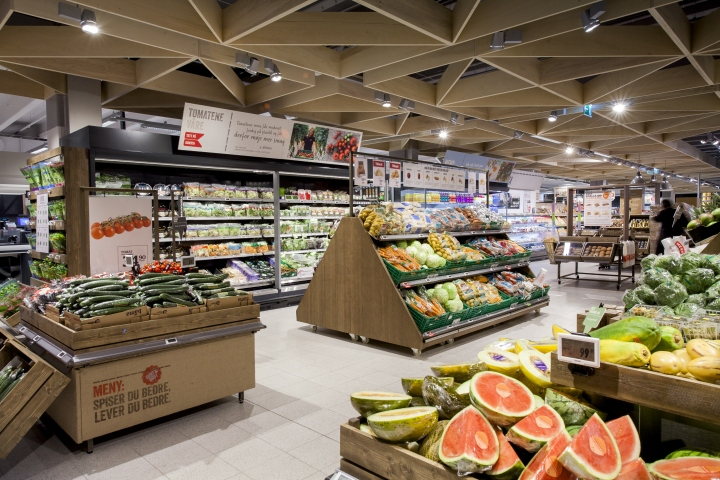Meny supermarkets by Household, Norway » Retail Design Blog