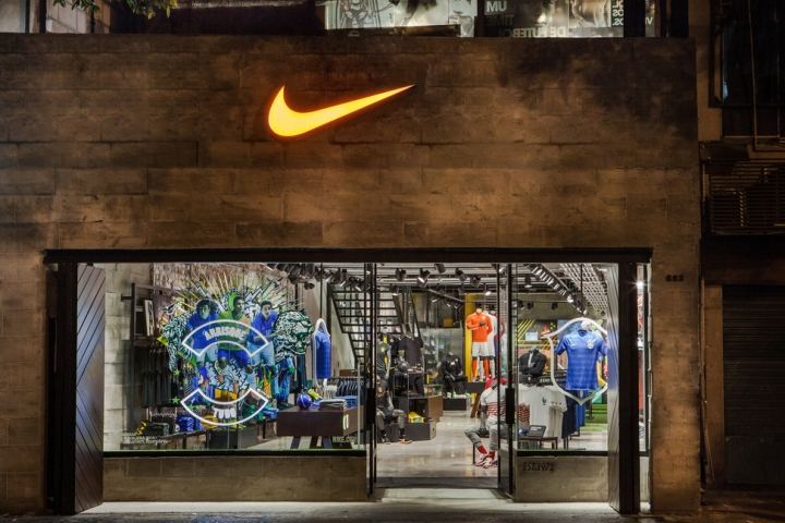 Celebrating The Sporting Heavyweights Heritage With Brasilian Football Three Story Outpost Is Outfitted In Brazilian National Teams Colors While