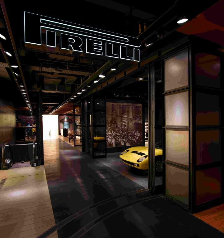 Pirelli pzero flagship store milano italy for Milano design shop
