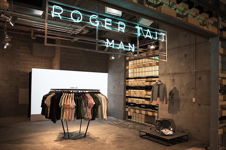 Roger tait man pop up store by loop creative sydney for Creative pop up shops