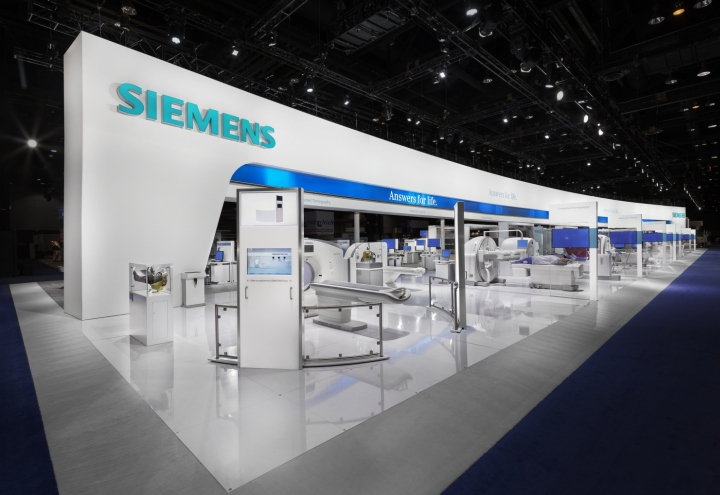 Exhibition Stand Definition : Siemens stand by catalyst at rsna chicago illinois