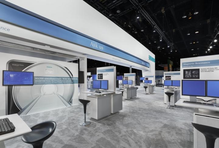 Exhibition Stand Design Sydney : Siemens stand by catalyst at rsna chicago illinois
