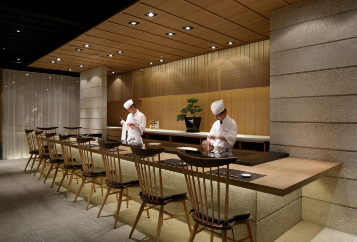 Grill Amp Sushi Bar By Gate Interior Design Office Shanghai
